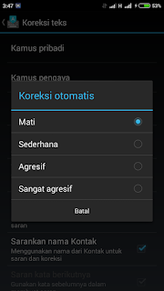 Disable auto correction keyboard android