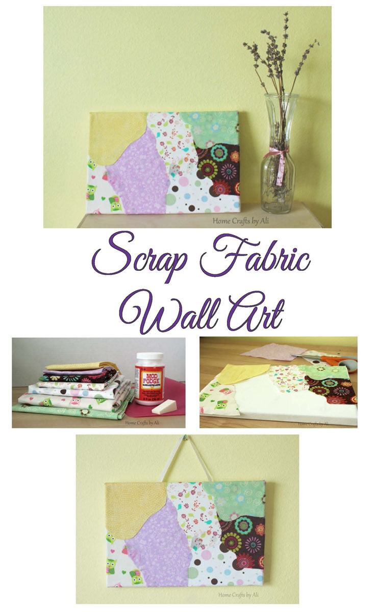Scrap fabric wall art home crafts by ali for Fabric wall art