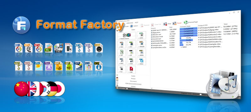 FormatFactory el convertidor multimedia gratuito
