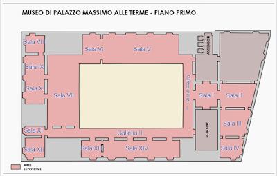 Planimetria Museo Nazionale Romano (Primo Piano)