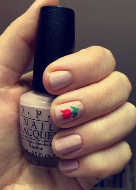 NOTD: Spring Flowers + How to DIY Nail Stickers