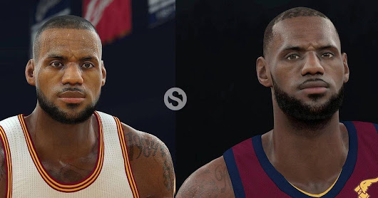 NBA 2K18 vs NBA 2K17 LeBron James Comparison