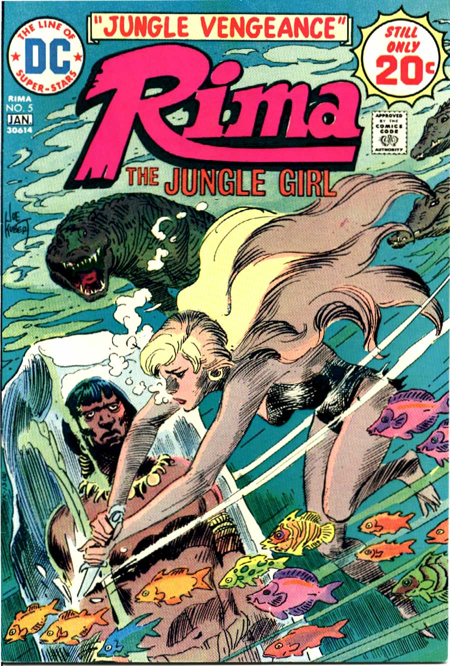 Rima the Jungle Girl v1 #5 dc bronze age comic book cover art by Joe Kubert