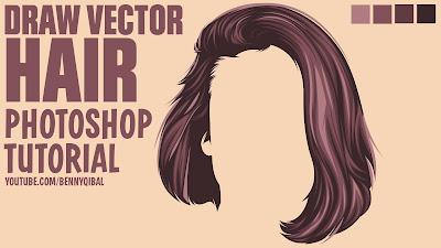 Draw Vector Hair Photoshop