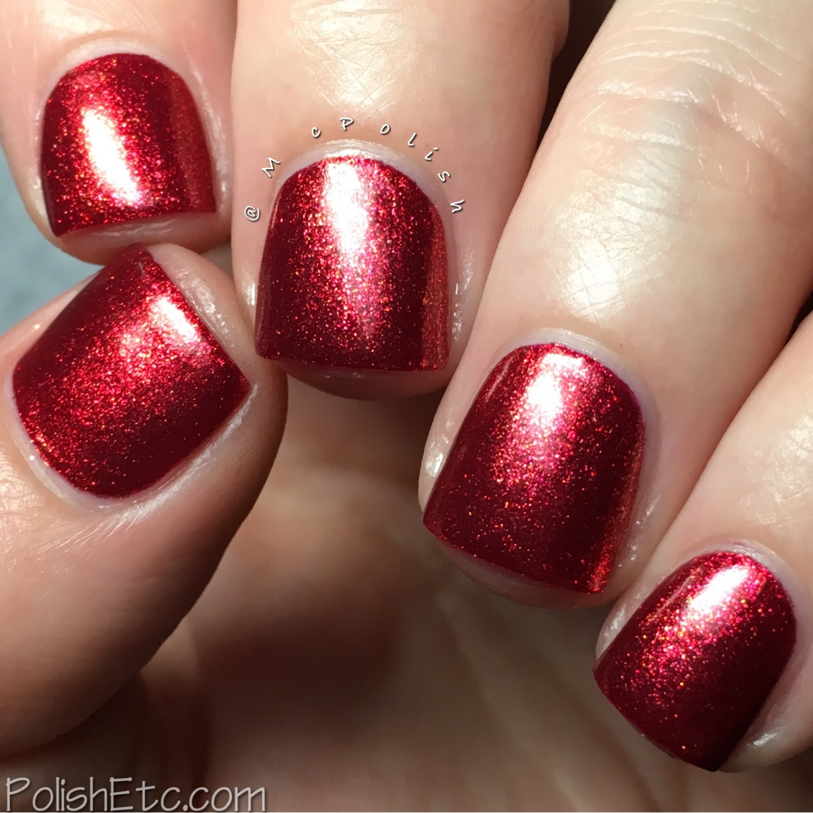 Whimsical Ideas by Pam - Whimsical Valentines 2017 - McPolish - Red Velvet
