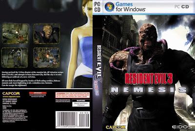Jogo Resident Evil 3 Nemesis PC+Tradução PT-BR DVD Capa