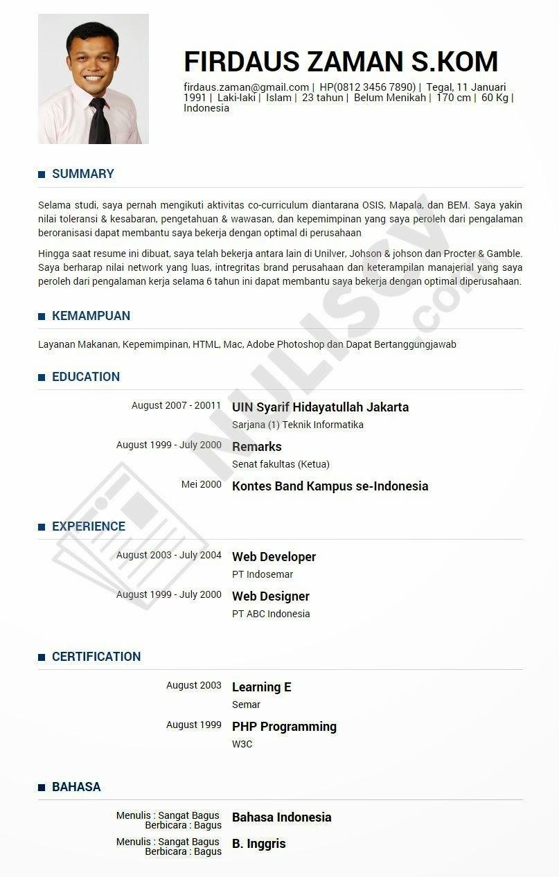 format cv resume maker create professional resumes format cv format cv contoh cv format resume dan contoh resume serta format