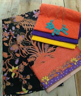 Kain Batik dan Embos 428 Orange
