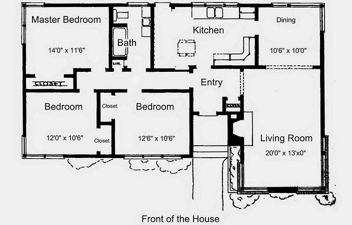 denah ruangan rumah sederhana terlihat minimalis