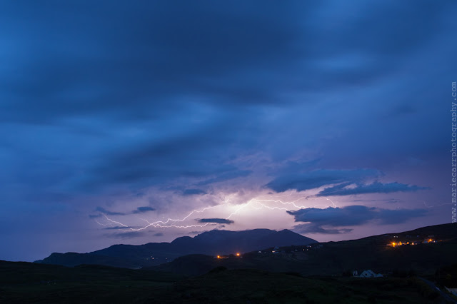 Lightning storm over Slieve League in Co. Donegal