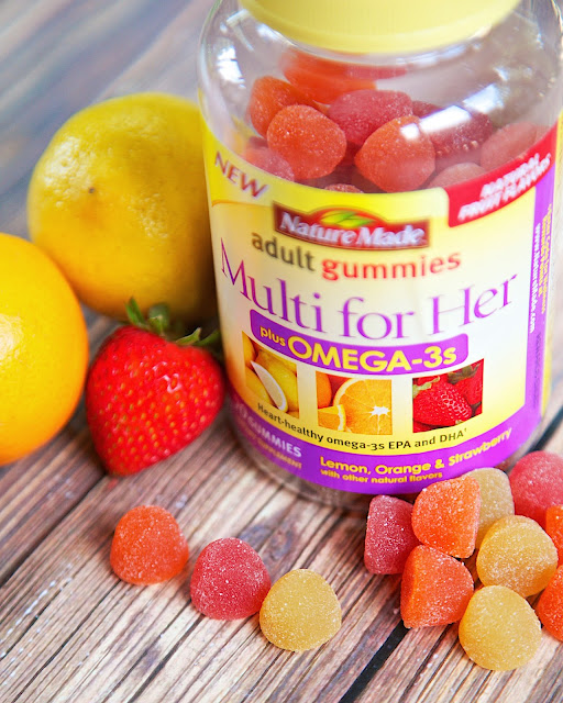 Nature Made Multi for Her plus Omega-3s Adult Gummies - great tasting multi-vitamins. Toss your chalky horse pills and try these yummy gummies!