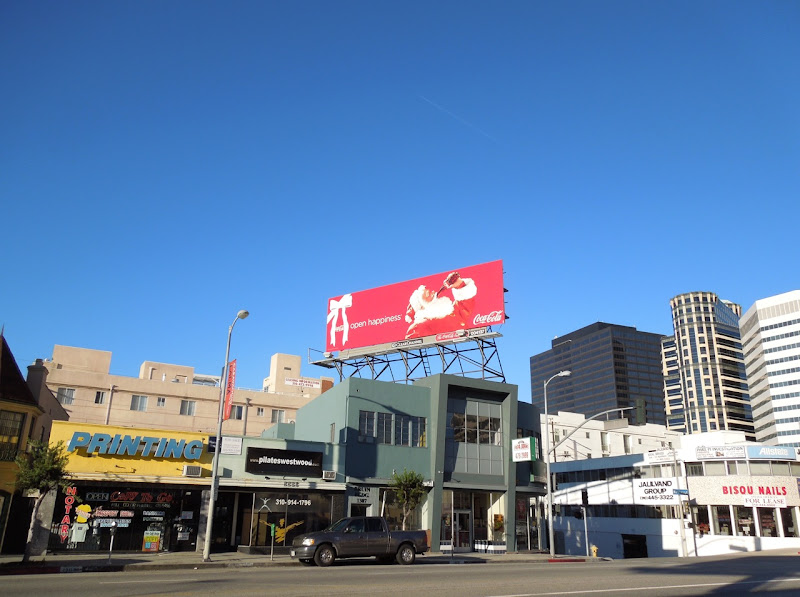Coke Santa billboard 2012