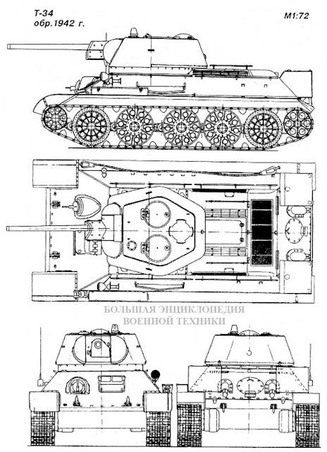 Общий вид танка Т-34 обр. 1942 года