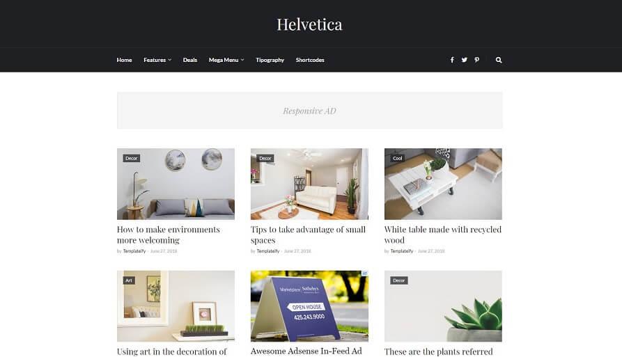 Helvetica v1.0 - Clean Responsive Blogger Template