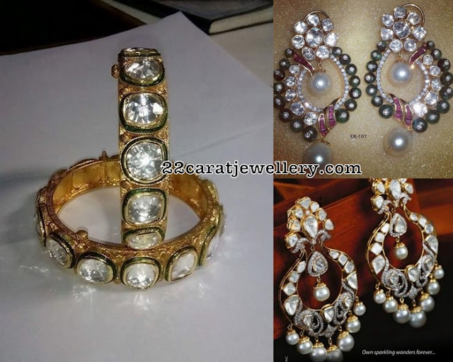 Large Polki Kundan Bangle Chandbalis