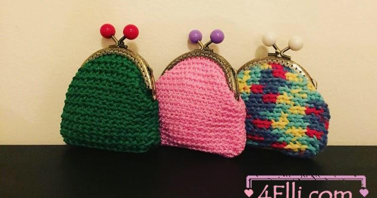 4elli Com Crochet Coin Purse Tutorial