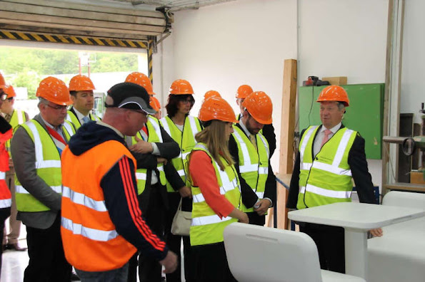 Luxembourg royals visit concrete giant