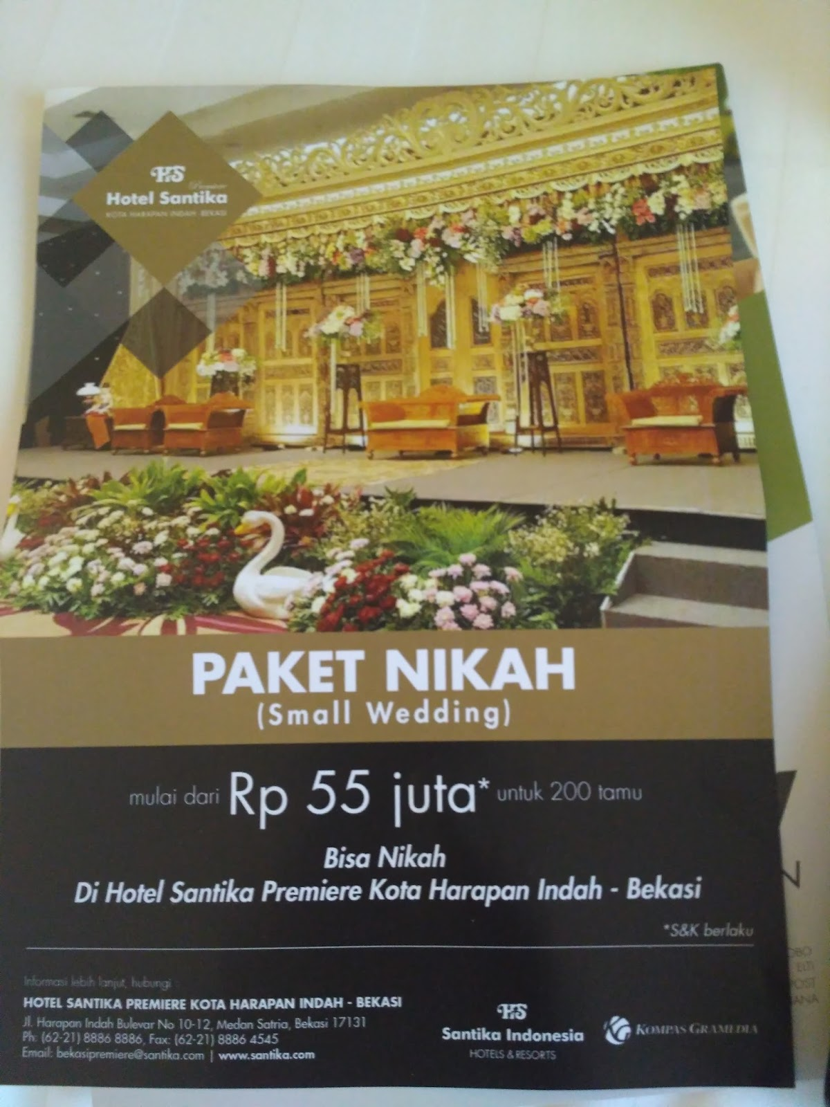 Selain Menginap Hotel Santika Premiere Tawarkan Paket Nikah Menulis Indonesia