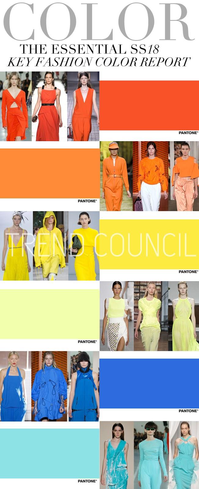 Colour Trends 2018 Fashion Trends 2018