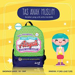 tas sekolah anak muslim Aisyah