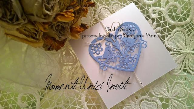 giorgioeanna Anche Giorgio e Anna hanno scelto i loro inviti...Colore Azzurro Polvere Colore Bianco Stile Shabby Chic