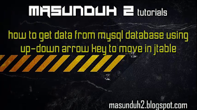 tutorial netbeans How to get data from mysql database using arrow key (vol.15)