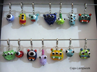 Lampwork-Monster Charms