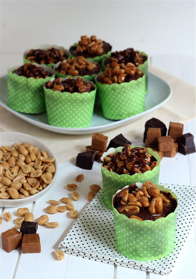Schoko-Karamell-Cupcakes