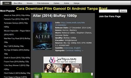 Cara Download Film Ganool Di Android Tanpa Root Blogger Reog