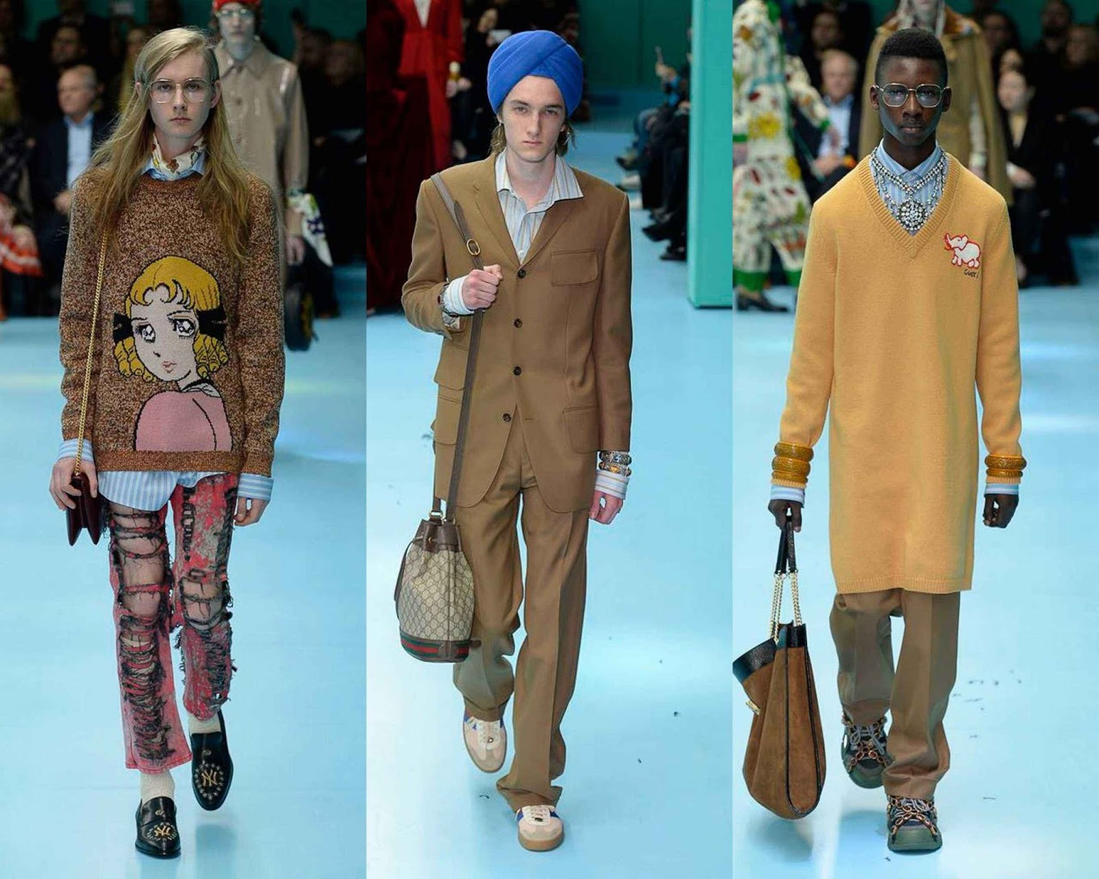 a6ea601c14f Gucci Fall-Winter 2018 - Milan Fashion Week - Male Fashion Trends
