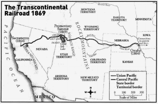 The Transcontinental Railroad: Map, facts and history for