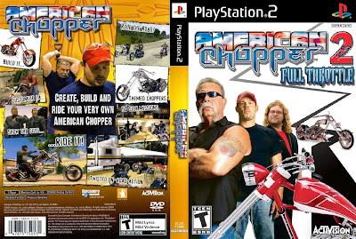 label american chopper 2 full throttle ps2 capa label american chopper