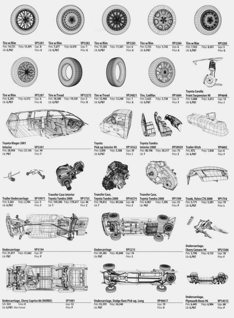 car interior parts names pdf