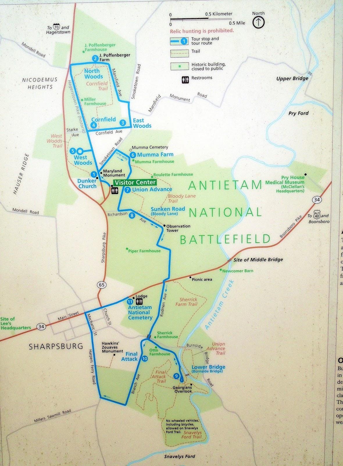 Focusing On Travel Antietam National Battlefield US Civil War - Antietam on us map