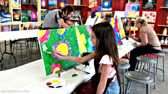 art, artwork, family fun, mother daughter day out
