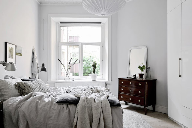 White cute and comfortable nordic apartment