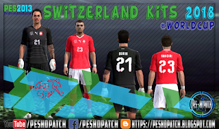 Switzerland World Cup 2018 kits for PES 2013