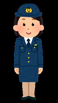 警察官のイラスト(女性・スカート・若者)