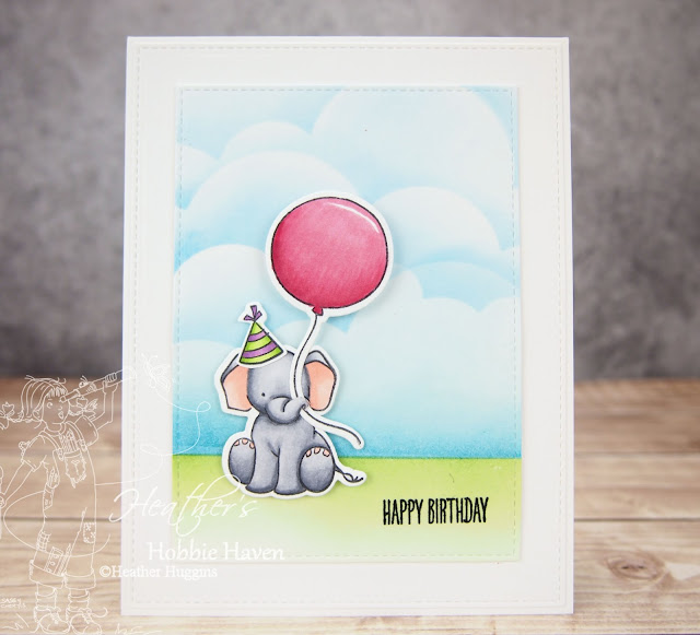 Heather's Hobbie Haven - Happy Birthday Elephant
