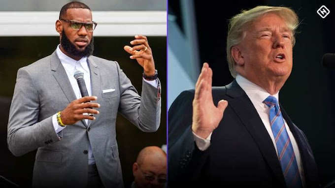 President Donald Trump tweets crack about LeBron James' intelligence while watching CNN