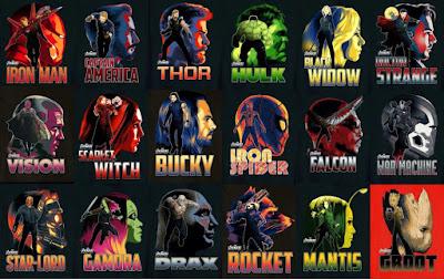 Avengers Infinity War Promo Art Headshots