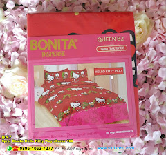 Sprei Bonita Hello Kitty Play Ukuran 160