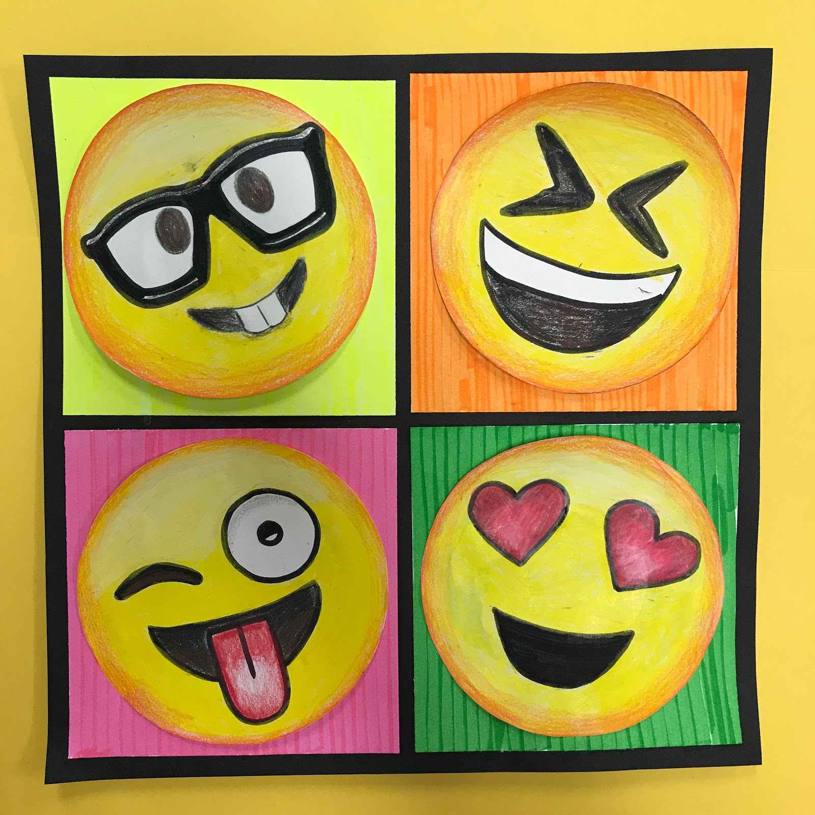 Elements Of The Art Room 4th Grade Pop Art Emojis