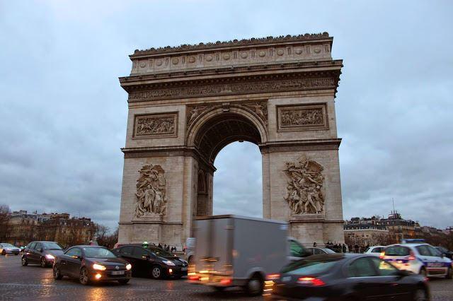 Arco do triunfo paris frança