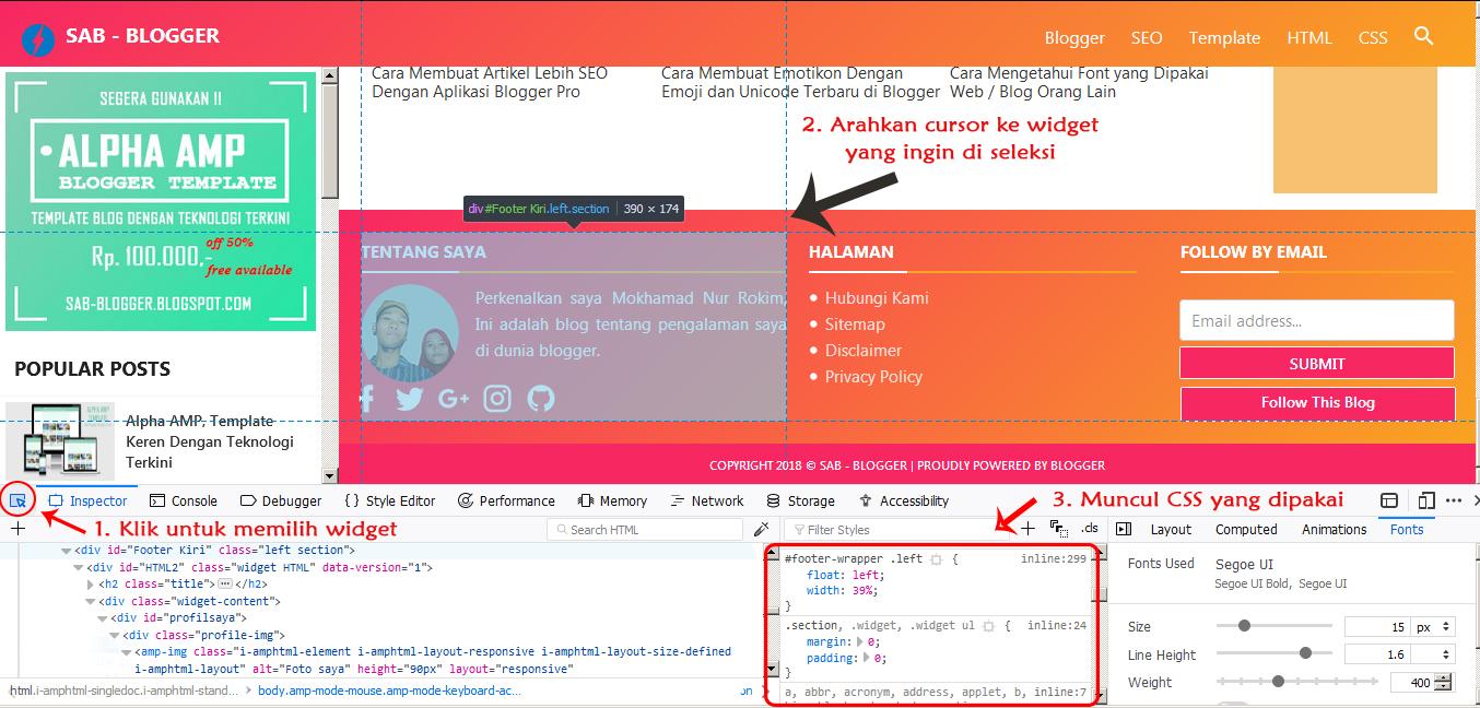 Cara Mengetahui CSS yang Dipakai Suatu Element di Blog