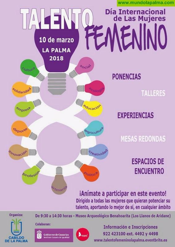 El Cabildo celebrará el Día Internacional de las Mujeres con un homenaje al talento femenino en La Palma
