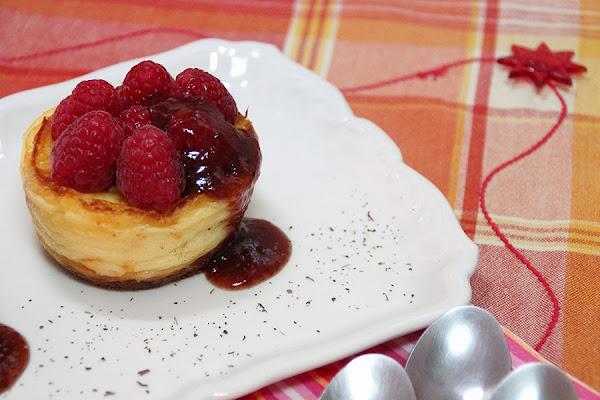 Receta del día: tartaletas de queso Idiazabal con frambuesas