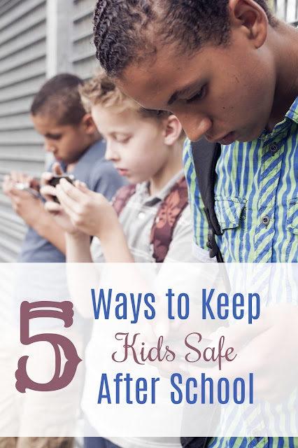 ways to keep kids safe after school