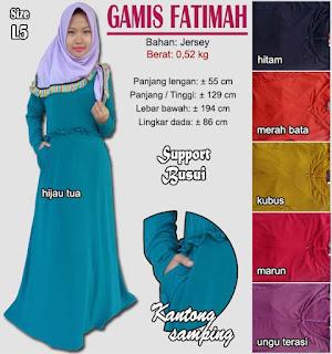 Gamis jersey simple - fatimah