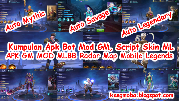 APK MOD GM, APK BOT, Script Skin, Diamond Hack Mobile Legends